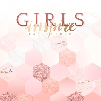 Girly inspire background