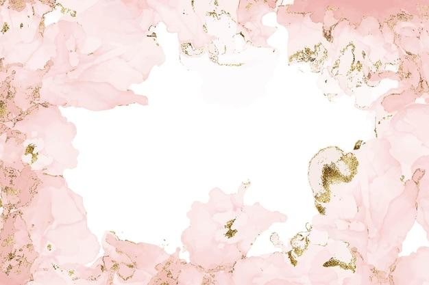 만나고 창백한 핑크 반짝이 수채화 배경