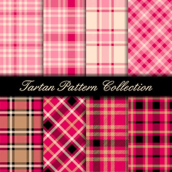 Girly pink cute tartan pattern