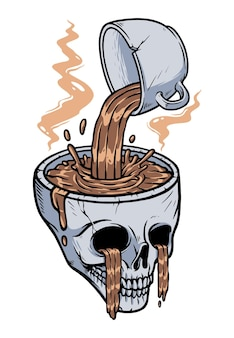 Give coffee to your head illustration