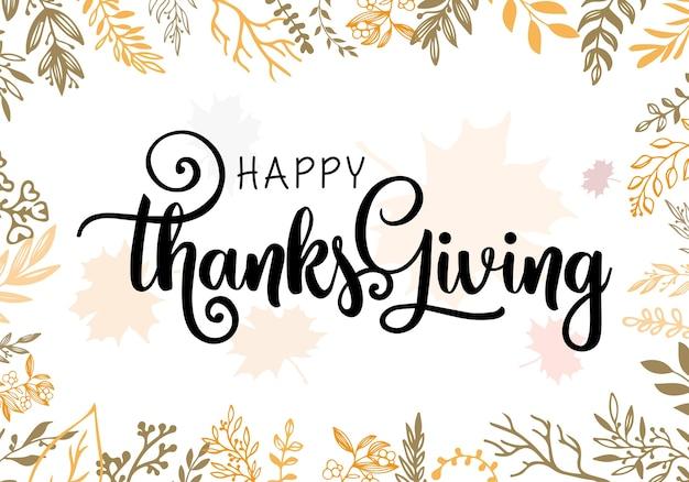 Give thanks season hand drawn