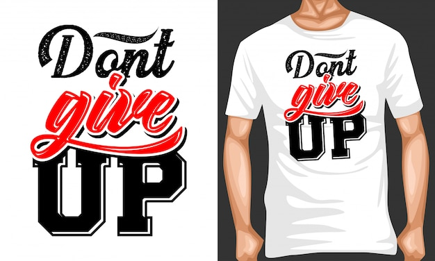 Don't give up lettering quotes