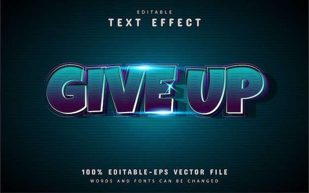 Give up text effect style