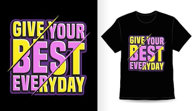 Создайте свой лучший повседневный дизайн футболки с типографикой