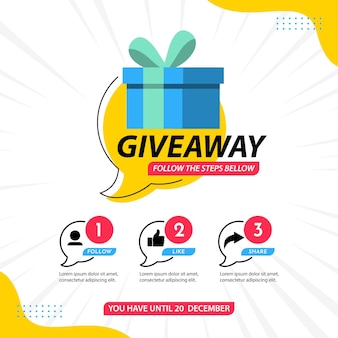 Giveaway banner design template