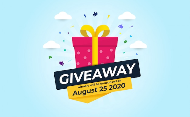 Giveaway banner template design