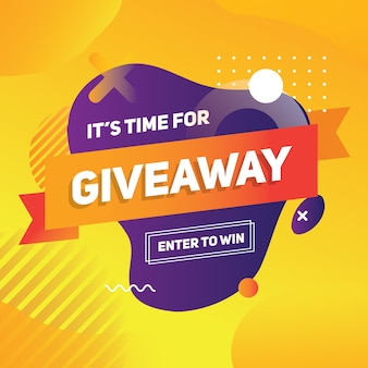 Giveaway banner template give away
