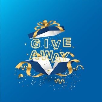 Giveaway banner template for social media post