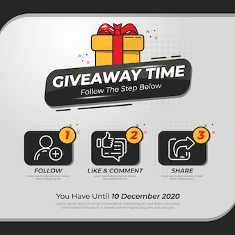 Giveaway banner template