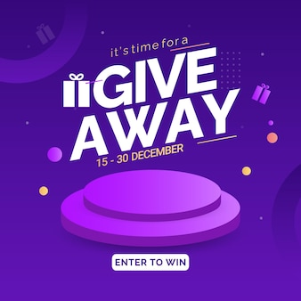 Giveaway banners post and stories design template