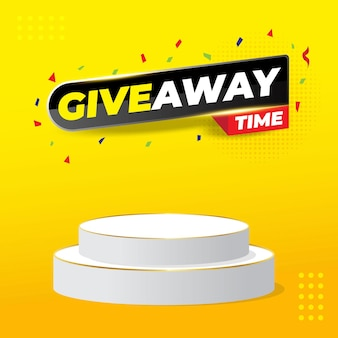 Giveaway contest with podium