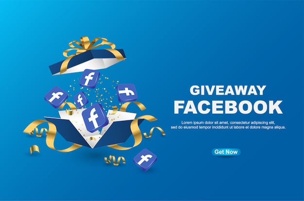 Giveaway facebook banner template