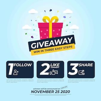 Бесплатная раздача постов в социальных сетях с тремя шагами к победе