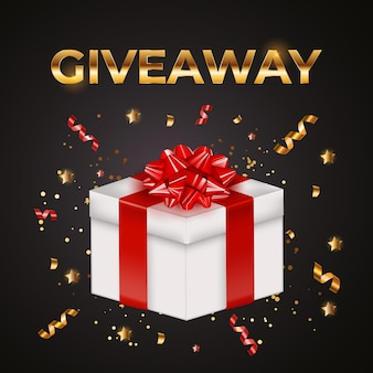 Giveaway gift box background