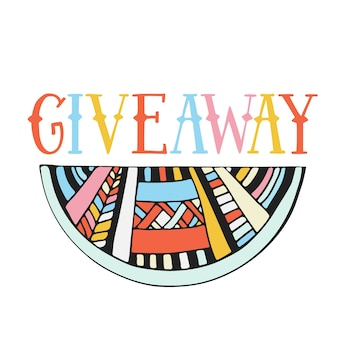 Giveaway icon. social media banner.
