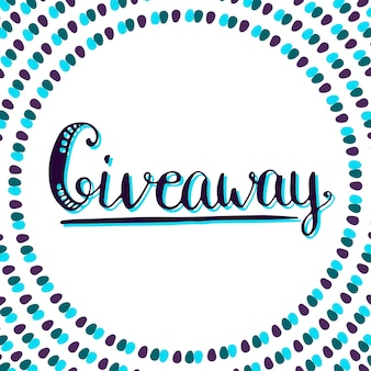 Giveaway icon for social media contests. vector lettering at white background