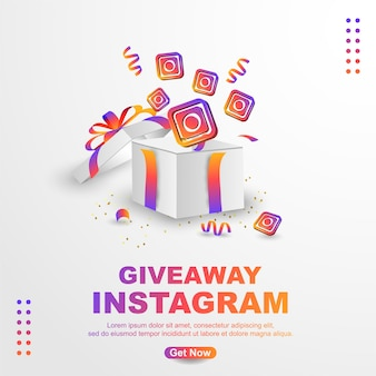 Giveaway instagram banner template