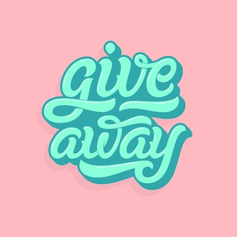 Giveaway lettering logo in soft colors