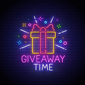 Giveaway neon sign