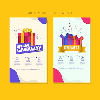 Giveaway social media contest template.
