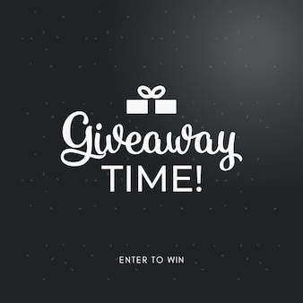 Giveaway social media contest vector template enter to win like and share