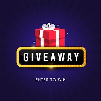 Giveaway social media contest vector template