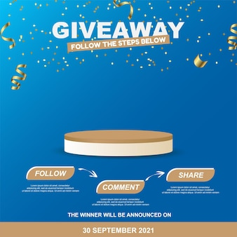 Giveaway steps for social media contest design for social media