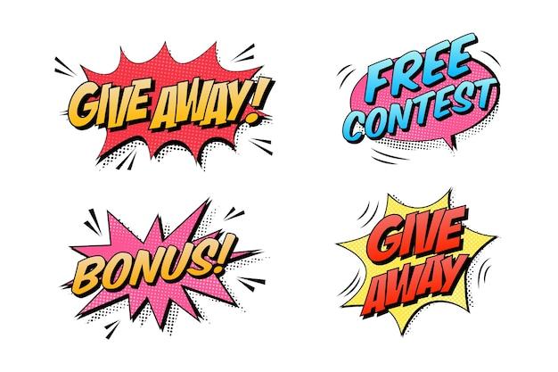 Бесплатные текстовые коллекции в стиле комиксов