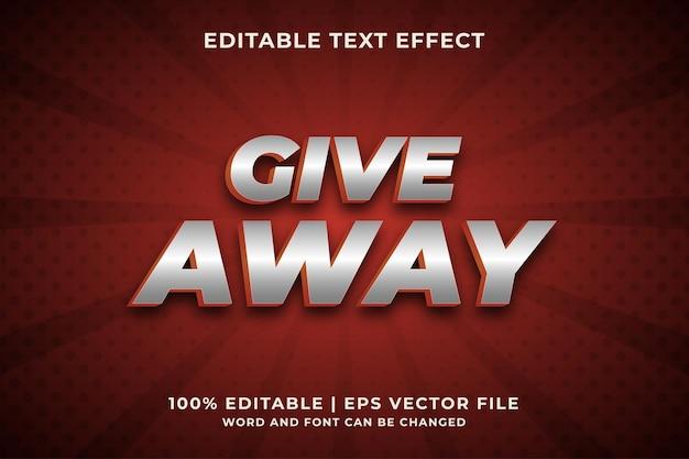 Giveaway text effect premium vector