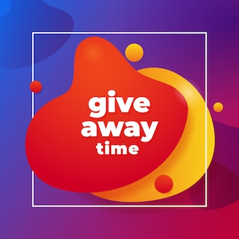 Giveaway time social media poster template design