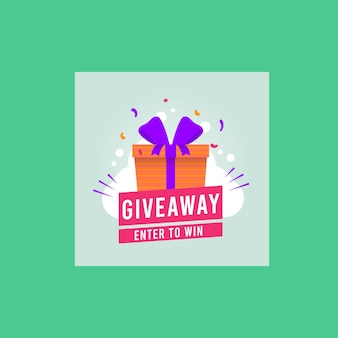 Giveaway vector post template