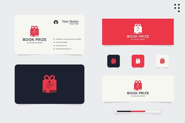 Giving a gift book.logo template design vector