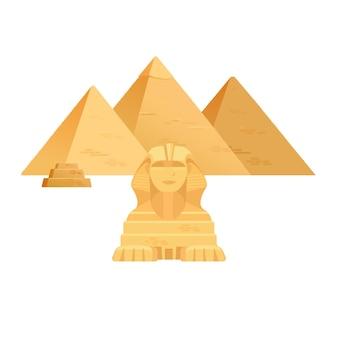 ギザのピラミッド。エジプトの古代旅行建築の光景。
