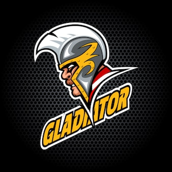 Gladiator head from side. can be used for club or team logo.