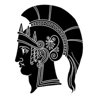 Gladiator spartan monochrome illustration sketch