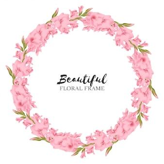 Gladious floral wreath circle frame