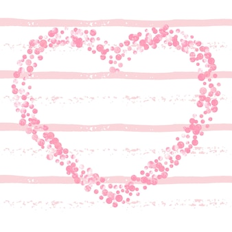 Гламурное знамя. розовый принт в горошек. иллюстрация взрыва. праздничная брошюра rose. женская частица. 14 февраля текстиль. полоса абстрактный дизайн. золотой гламурный баннер