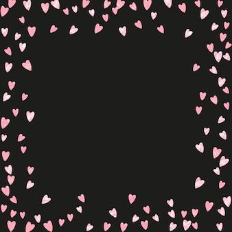 글래머 쉬머. 장미 약혼 입자. 핑크 폴카 디자인. 반짝이는 요소. 황금 보육 개념입니다. 장식 브로셔. 손으로 그린 그림. 골든 글래머 쉬머