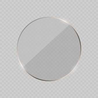 Glare glass frame background. illustration