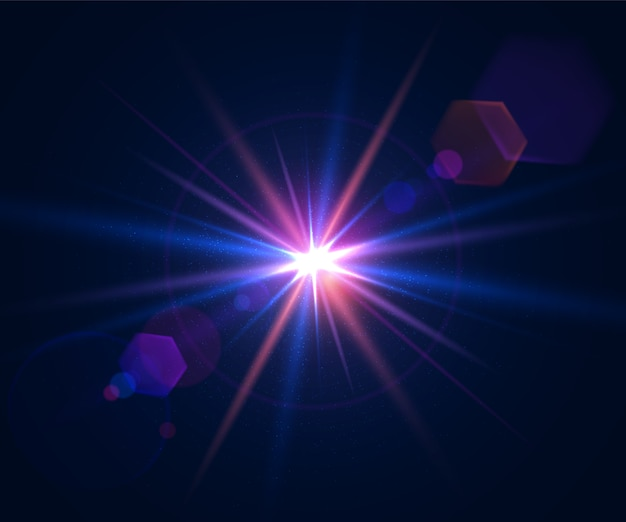 Glare light effect