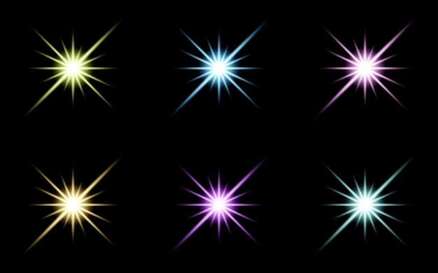 Glare star sparkling glow light effect set