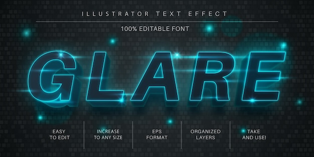 Стиль шрифта с эффектом бликового текста