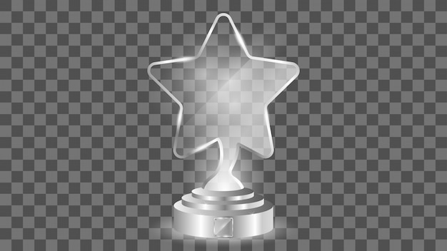 Glass award template, isolated on transparent