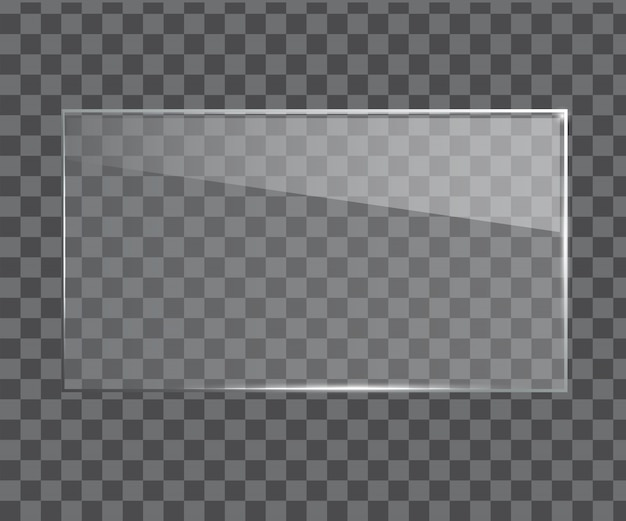 Glass banner realistic