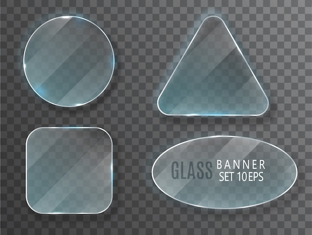 Glass banners set.