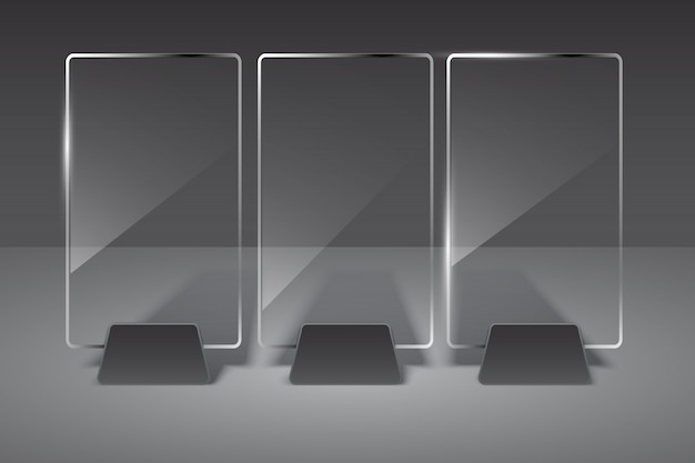 Glass billboard set