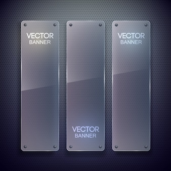 Glass blank vertical banners