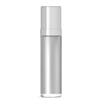 Glass bottle. serum package design. 3d mockup