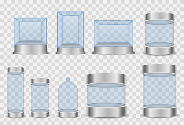 Цилиндр стеклянной коробки