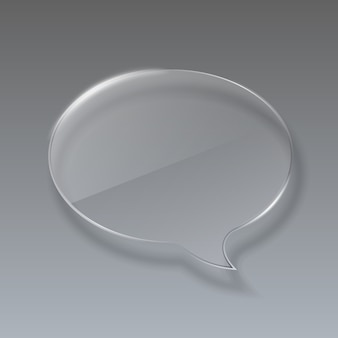 Glass bubble speech